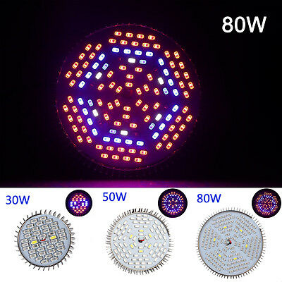 E27 30W 50W 80W LED Full Spectrum Plant Grow Light Bulb Hydroponic Lamp Indoor#