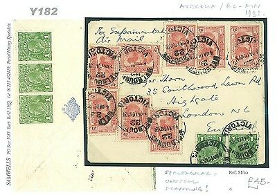 DBY182 1931 AUSTRALIA Melbourne FFC Imperial Franking Airmail/GB London