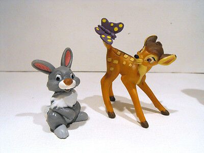RARE DISNEY Bambi and Thumper  2 PVC figurines MINT Bullyland Germany