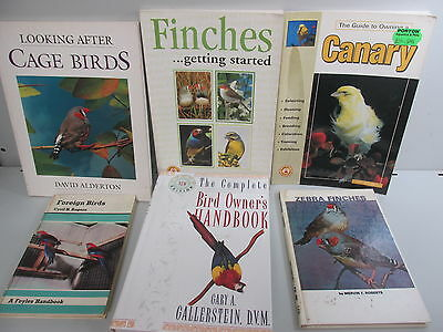 Cage Birds themed book collection x 6 titles, job lot