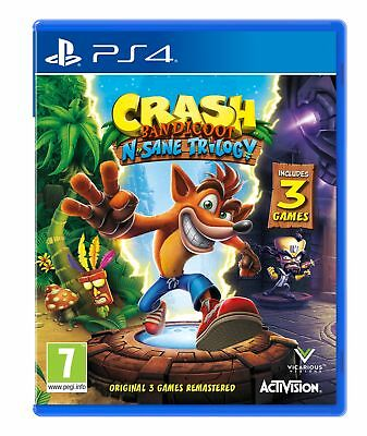 Crash Bandicoot N.Sane Trilogy (PS4) NEW & SEALED Fast Dispatch