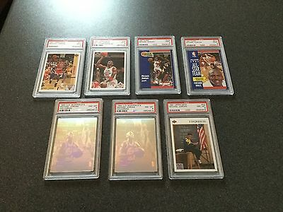 Michael Jordan basketball cards (PSA DNA graded x7) Plus Collection Sets