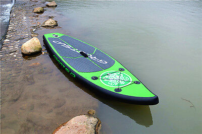 New Inflatable Surfboards Stand Up Paddle Board SUP Package with Pump Green 2.6M