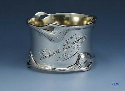 Art Nouveau German 800 Silver Napkin Ring