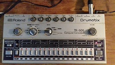 Roland TR-606 Vintage Analogue Drumatix Classic Working order. RARE!