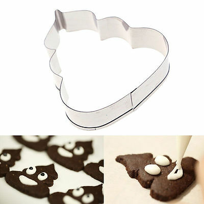 1 piece cookie biscuit cutter Mould shape. Poo Emoticon Emoji. 7cm.