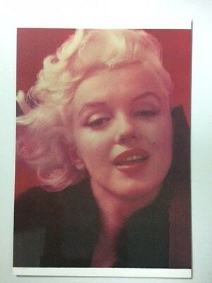 Postcard - Marilyn Monroe 1955 by Milton Greene colour close up in fur