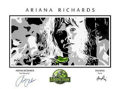 Rare Ariana Richards Limited Edition Signed Jurrassic Park Print