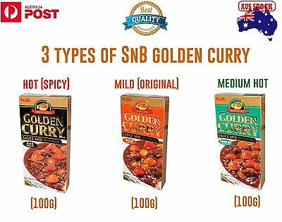 (100G)Japanese Golden Curry 3 Different Kinds Of Flavors (Mild, Medium Hot, Hot)