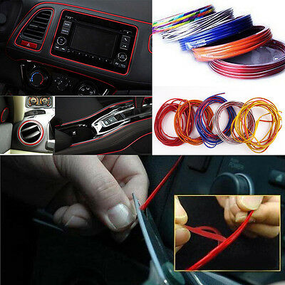 1pc Universal SUV Car Interior Red Edge Gap Line Garnish 5M Molding Accessories