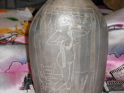 WW1 Trench Art Mess Canteen with Exotic women carved dated 1918