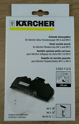 Karcher Small Suction Nozzle, For Window Vac WV2 & WV5, 170mm, Genuine, New
