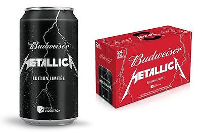 METALLICA BEER UNOPENED CASE 24X355ml BUDWEISER SPECIAL EDITION NEW VERY RARE
