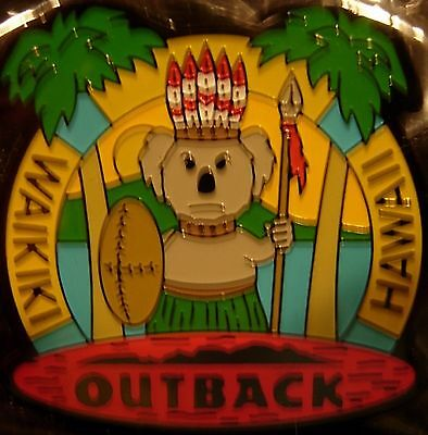 J4074Rb Outback Steakhouse  Hawaii Waikiki hat lapel pin