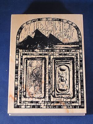 CLUB SCRAP EGYPT PYRAMIDS SCARAB Rubber Stamp LIMITED EDITION 6354