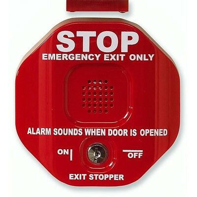 STI-6402 Exit Stopper Multifunction Door Alarm for Double Door - red