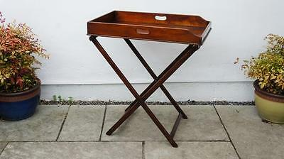 Victorian Mahogany butlers tray & stand re-furbished good colour