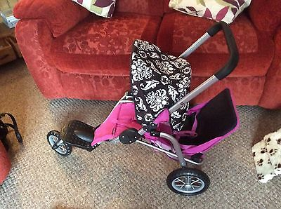 Mamas And Papas Double Jogger Dolls Pram Pushchair,toy,buggy,baby