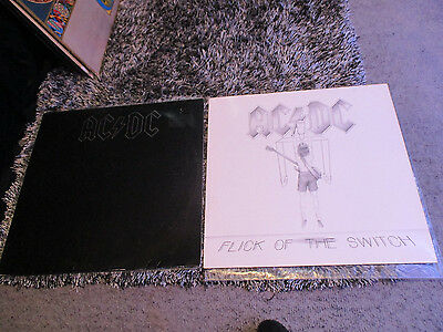 AC/DC - Flick of the Switch / Back in Black Vinyl Records
