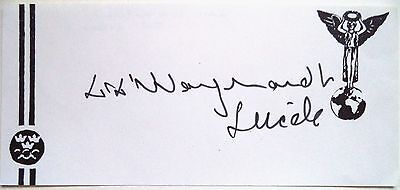 LARS WOLFBRANDT 1948 OLYMPIC 4 x 400m RELAY BRONZE MEDAL ORIGINAL INK AUTOGRAPH