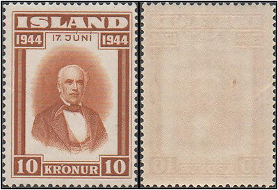 Iceland stamps. 1944 Republic of Iceland. 10 kr. MNH