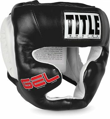 Title Boxing Gel World Full Face Training Headgear - Black