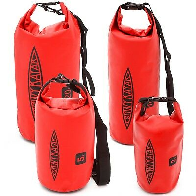 2L-20L Red PVC Waterproof Dry Bag Sack Canoe Floating Boating Kayaking Camping