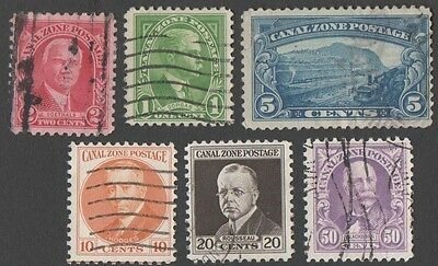 Panama. Canal zone.  1928 -1975 Personalities, Landscape. Cancelled