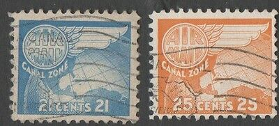 Panama. Canal zone.   1951 -1963 Airmail. Cancelled