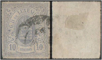 Luxembourg stamp.  1859 -1863 Coat of ArmsV. Cancelled