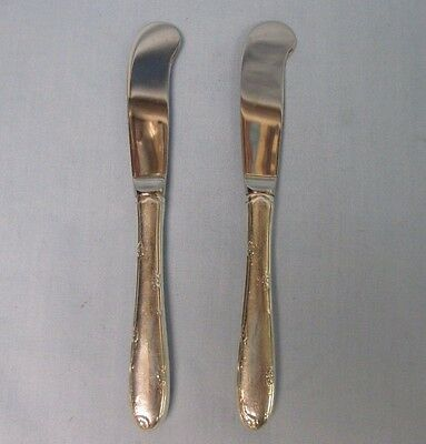 2 Vintage Sterling Silver Towle Madeira Hollow Handle Butter Knives Spreaders