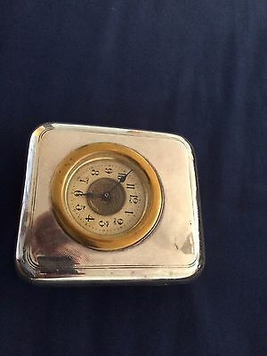 nice old vintage solid silver fronted clock awarded to Capt C Y Ford MC RAMC
