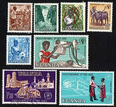 Uganda stamps. 1962 Independence. MH, cancelled