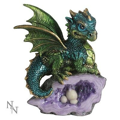 Nemesis Now Nest Guardian Green 13cm Dragon (boxed new)
