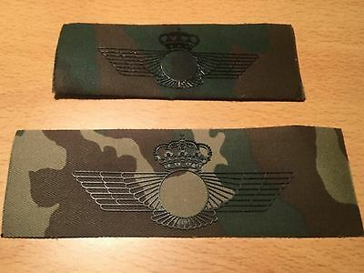 2x Parche boscoso militar pecho Spanish Air force military patch Ejercito Aire