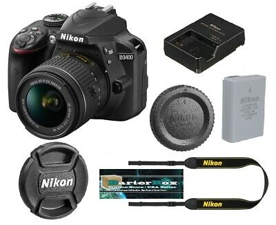 Nikon D D3400 24.2Mp Digital Slr Camera Black + Af-p Dx 18-55mm Lens Sale