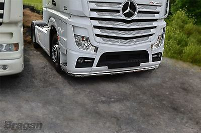 To Fit Mercedes Actros MP4 Low Bar Spoiler Under Bumper Lobar + 11 LED + Guards
