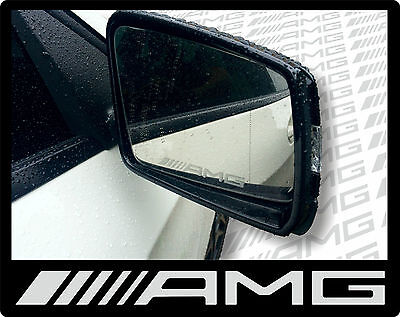 AMG Etched glass effect wing mirror stickers - A Class A200 A45 CLA45 GLA45 C63