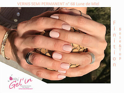 Vernis Semi Permanent NAILITY UV/LED/CCFL n°68 Lune de Miel 7ml GEL POLISH USA