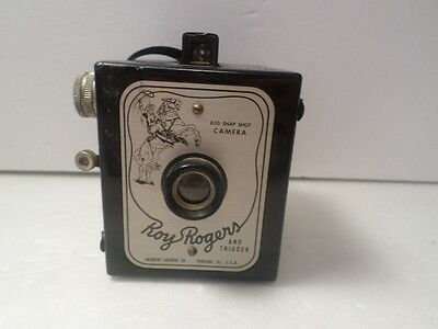 Vintage Roy Rogers & Trigger 620 Snap Shot Camera Made In USA Herbert George co