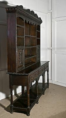 18th Century Carved Oak Dresser with Tree of Life Carvings