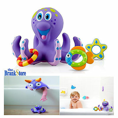 Baby Bath Toys Kids Bathtub Toy Octopus Hoopla Pool Water Floating Fun Play Set