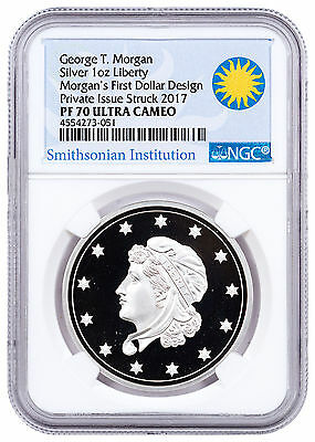 (2017) Smithsonian Morgans First Silver Dollars 1 oz Silver NGC PF70 UC SKU47352