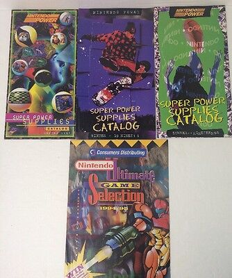 Nintendo Power Super Power Supplies Catalogues Vintage 1990's Wicked Condition