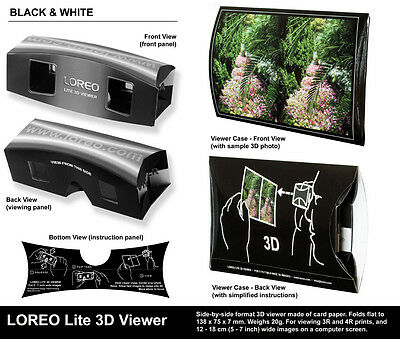 10 x LOREO Lite 3D Viewer STEREOSCOPES NEW - NUEVOS - 10 ESTEREOSCOPIOS -10 PACK