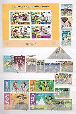 Boy Scouts / Scouting / Girl Guides Thematic Topical Stamps Old + New  9260317