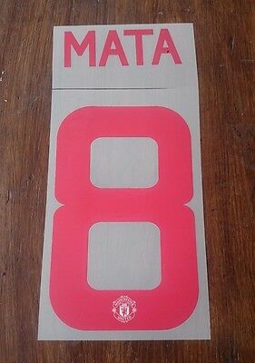 Official Manchester United 2015-16 Away Name & Number Set  MATA