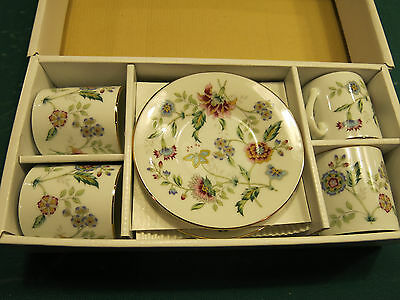 Andrea by Sadek Buckingham 8 piece demitasse set in box never used
