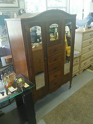 Antique Women's Wardrobe Armoire