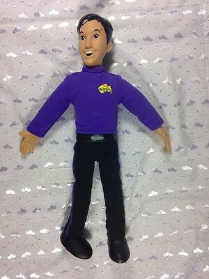 The Wiggles Talking Doll Figure Purple Jeff Singing Works Great 2003 Spin Master